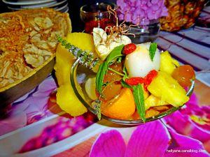 Recette Salade de fruits très colorée à la poudre de baobab