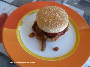 Recette Burger au poulet grillé ww