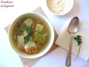 Recette Soupe aux ravioles
