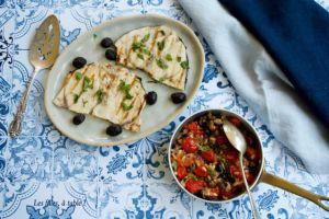 Recette Espadon grillé, sauce tiède aux tomates cerises et câpres