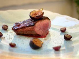 Recette [Prémisses d'automne…] Filet de canette aux figues et raisins muscat