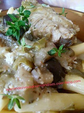 Recette Poulet au gorgonzola au Cookéo