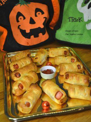 Recette Doigts d'ogre pour Halloween