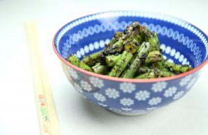 Recette Haricots verts au sésame noir