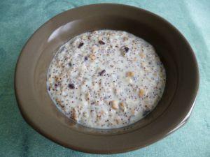 Recette Crème amande noisette chocolat au muesli protéiné et aux graines de chia