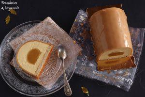 Recette Buche fruit de la passion et caramel