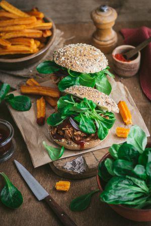 Recette Burgers végétariens au fruit du jacquier, façon pulled pork