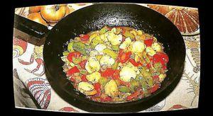 Recette Coquilles Saint-Jacques aux poivrons