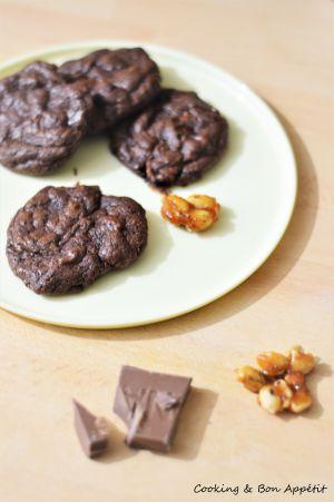 Recette Cookies fondants chocolat – cacahuète