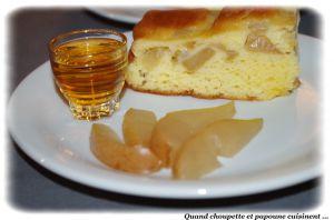 Recette Gâteau tendre aux poires