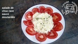 Recette Salade de chou rave râpé et sa sauce moutardée