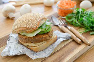 Recette Burger au steak de champignons