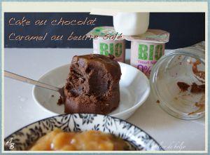 Recette Cake au chocolat, caramel au beurre salé, en bocal
