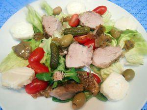 Recette Reste de la rouelle en salade