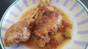 Recette Poulet mariné...cuit au wok