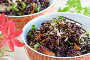 Recette Salade de riz noir (vegan)