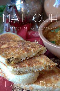 Recette Matlouh farci à la viande hachée et fromage