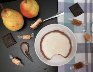 Recette Tarte poire-chocolat-caramel