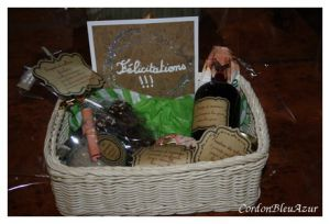 Recette Cadeau de mariage : panier gourmand