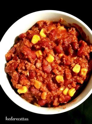 Recette Chili con carne au cookeo