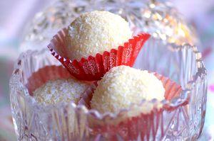 Recette Truffes noix de coco chocolat blanc façon Raffaello