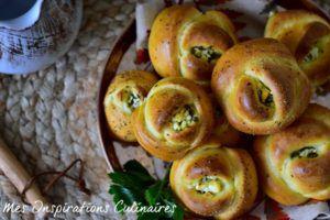 Recette Petits pains turcs feta persil, Poğaça