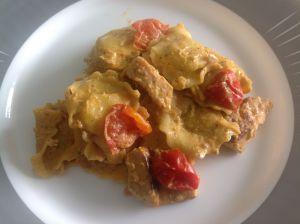 Recette Raviolis au poulet et tomates au Cookeo