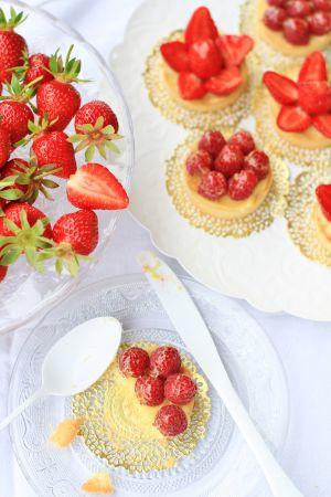 Recette Tarte aux fraises ou tarte aux  framboises