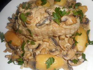 Recette Rôti de dinde aux champignons Cookeo