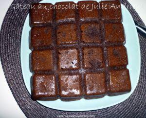 Recette Gâteau au chocolat de Julie Andrieu