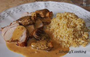 Recette Filet mignon de porc aux morilles