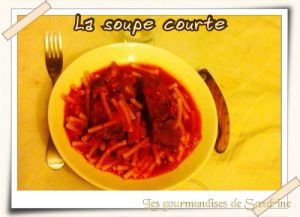 Recette Soupe courte - ou ragoût de mouton aux maccheroni