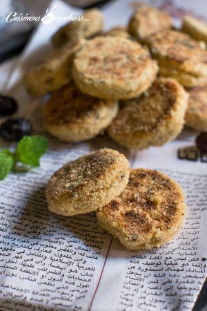 Recette Harcha aux olives noires et aux tomates séchées
