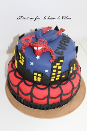 Recette Gâteau Spiderman { Gâteau 3D } Pâte à sucre