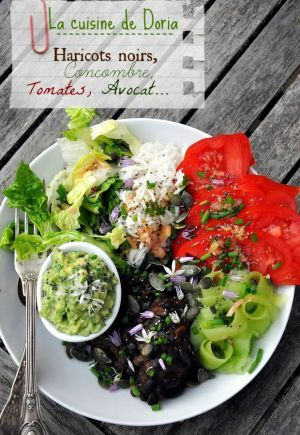 Recette Salade Vegan aux haricots noirs sauce chipotle