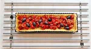 Recette Tarte salée aux tomates cerises confites