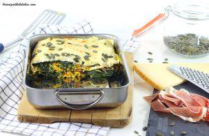 Recette Lasagnes Purée de Potiron, Epinards et Jambon de Parme
