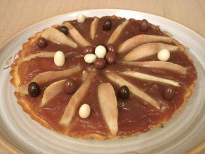 Recette Tarte aux poires et crème de marrons