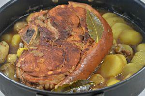 Recette Rouelle de porc cuite au cidre