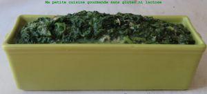 Recette Epinards au thon et à la béchamel  sans gluten et sans lactose
