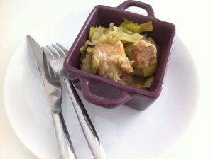 Recette Rouelle de porc aux poireaux