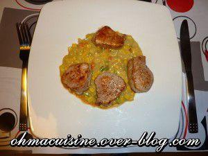 Recette Filet mignon de porc et curry de mais
