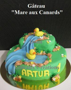 """Recette Gateaux """"Mare aux Canards"""" et Fée Clochette"""" en Pâte à Sucre"""