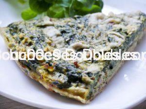 Recette Sans gluten ni lactose : tarte alcaline aux épinards