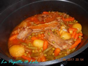 Recette Navarin d'agneau aux petits légumes