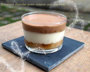 Recette Entremets Poire-Chocolat comme une charlotte