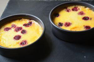Recette Crème brûlée au miel, safran et framboises