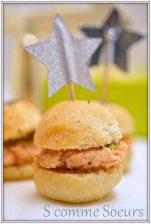 Recette Mini sandwiches aux rillettes comtoises