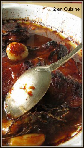 Recette Rouelle de porc braisée au miel