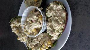 Recette Avocats aux thon
